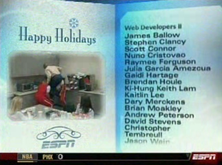 Sportscenter Christmas Credits